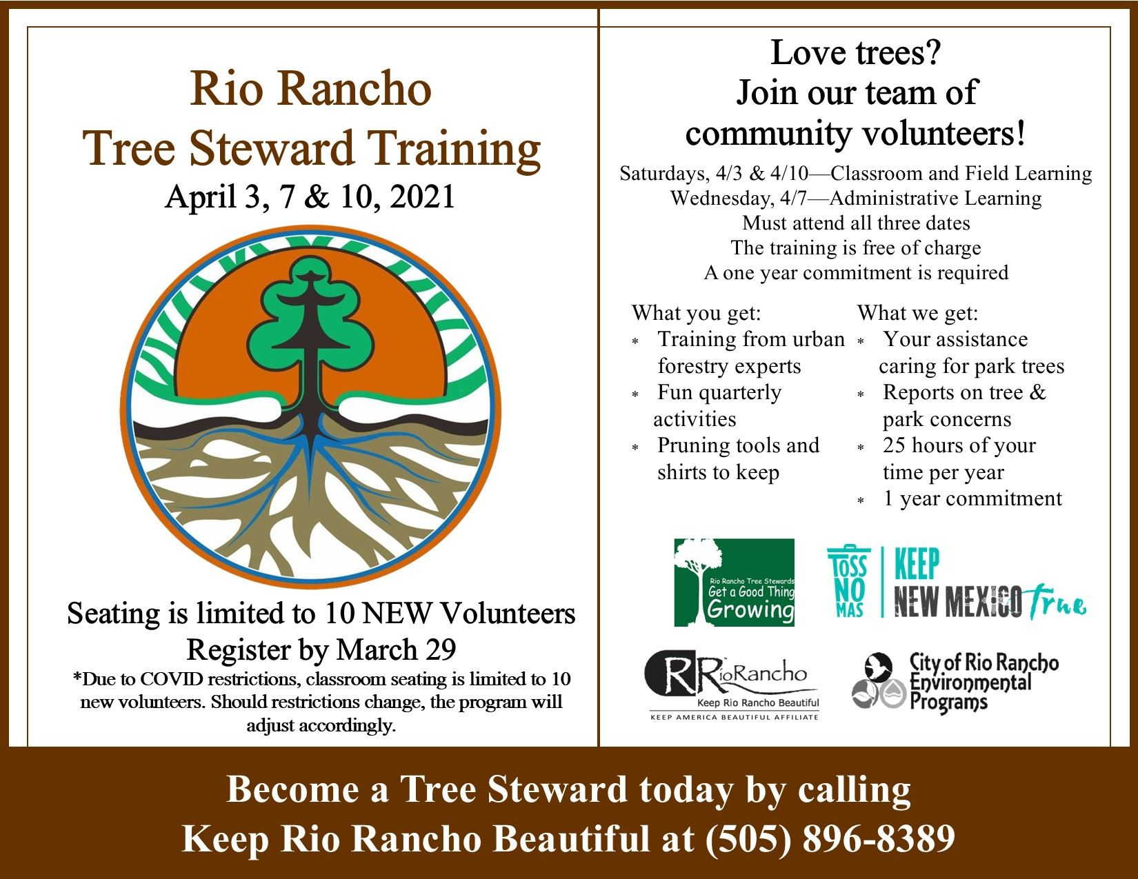 Tree Steward 2021 flier